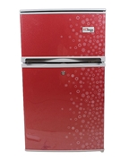 Gaba National GNR-725 S.S - Two door Refrigerator - Red