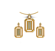 ARY Jewellers Silver Locket Set S001