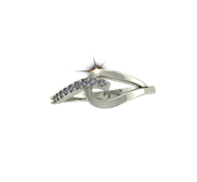 ARY Jewellers Silver Daimond Ring R06