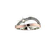 ARY Jewellers Silver Daimond Ring R01