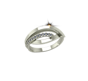 ARY Jewellers Silver Diamond Ring R-07