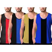 The WareHouse Pack Of 4 Casual Racer Vests