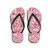The WareHouse Puzzle Art Printed Flip Flop