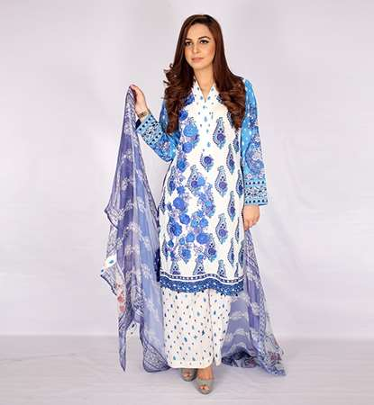 Buy Gulaal Embrioded 3 Piece Lawn ( Unstiched)  online