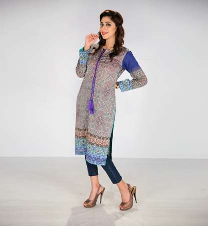 Buy MHK Stylish Kurti Digital Print on Lawn  online