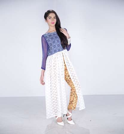 Buy MHK stylish cut frock with trousers  online