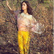 Buy Online Haute Form Shaded Cape with embroidered trouser at ARY Sahulat Bazar Pakistan
