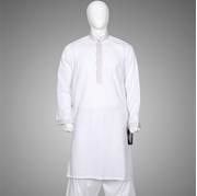 Decor White Cotton Kurta Shilwar DM 05