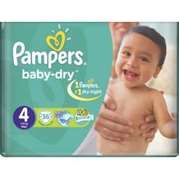 Pampers Baby-Dry Jumbo Pack of 32 [Size 4/Large/7-18 kgs]