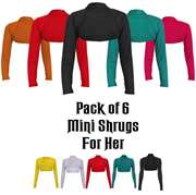 Pack fo 6 Random color Mini Shrug