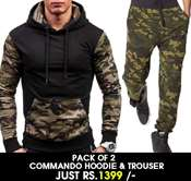 Buy Stylish Pack of 2 commando Hoodie & Trouser  BD-bF-022   online