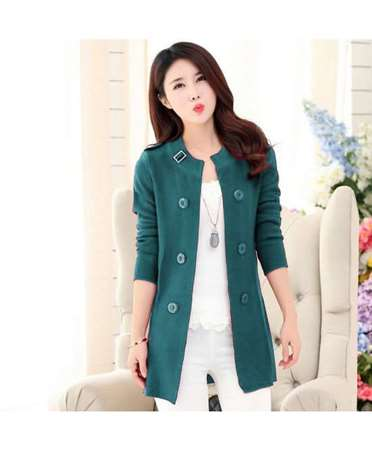 Buy Cardigan's Women Ladies Coat Light Green  online