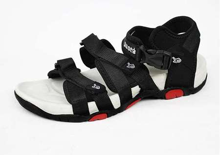 Buy Quota Black & Red Sandal for Men  online