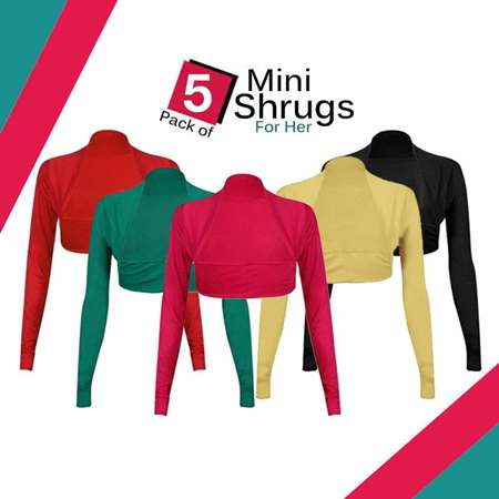 Buy Pack of 5 Mini Shrugs for Her  online