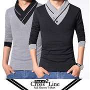 Pack of 2 Cross Line Full Sleeves T-Shirts