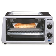 Absons Oven Toaster Stainless Steel With Hot Plate 9 litres