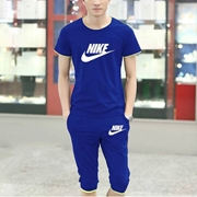 Special Diamond Deal Export Quality T-shirt And Baggy Short Combo Pack In Royal Blue