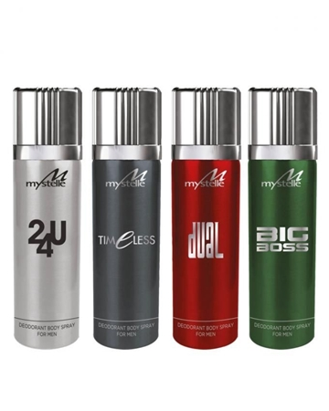 Buy Special Diamond Deal Pack of 04 - Body Spray's for Men - 200ml  online