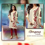 Special Diamond Deal New Ladies Party Occasion Dress Kurti With Legging