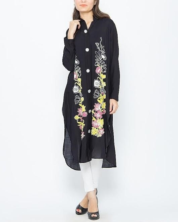 Buy Special Diamond Deal Afreen's Collection Black Printed Stylish Kurta  online