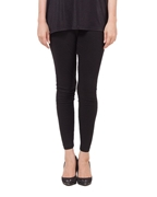 Tsquare Black Cotton Tights For Women