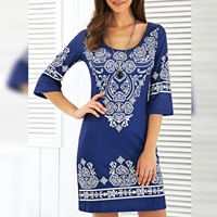 Special Diamond Deal Women's Blue Poly Silk Printed Top