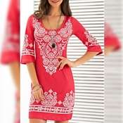 Buy Special Diamond Deal Women's Hot Pink Poly Silk Printed Top  online