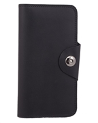 Women Leahter Wallet with Magnetic Button Closure