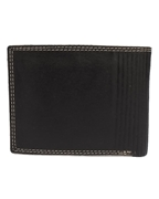 Men Leather Wallet with Double Stitched