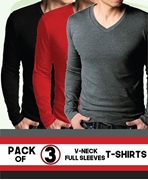 Special Diamond Deal Pack Of 3 V Neck T-Shirts