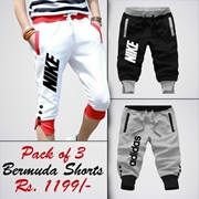 Special Diamond Deal Pack Of 3 Printed Shorts