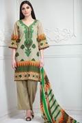 Lala Collection Lawn Print Green USS17-LAC-002B