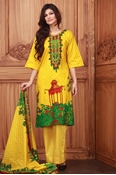 Buy Lala Collection Lawn Print Yellow USS17-LAC-007C  online
