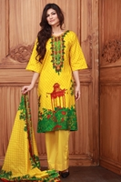 Lala Collection Lawn Print Yellow USS17-LAC-007C