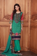 Lala Collection Lawn Print Sea Green USS17-LAC-009A