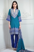 Lala Collection Lawn Print Blue USS17-LAC-015B