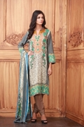 Lala Collection Lawn Print Sea Green USS17-LAC-016C
