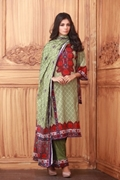 Lala Collection Lawn Print Dark Olive USS17-LAC-017A