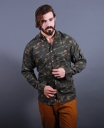 Shirt Army green camouflag printed