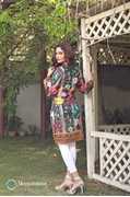 Shahaz digital Lawn Black Multi