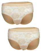 Pack of 2 - Fancy Half Net Panties For Women