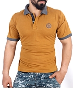 Mustard Brown Stylish Polo Shirt