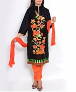 Big B Kurti-SS500-BLACK [Full 3pc Suit]