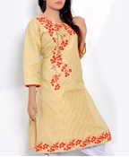 Buy Big B Kurti: #120 JOY Cotton, Embroidered, Stitched   online