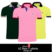 Pack of 3 LC Polo T-shirts Design 25