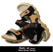 Summer Casual Black Brown Sandal