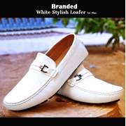 Branded White Stylish Loafer for Men