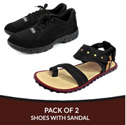 Buy 1 Get 1 Deal on black Shoes With Sandal