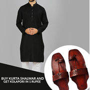 Buy Kurta Shalwar and Get Kolhapuri