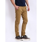 Twill Camel cotton chinos